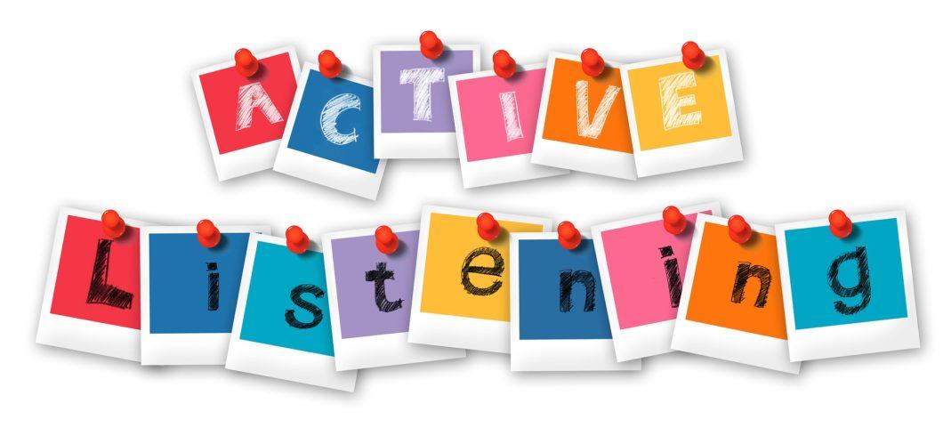 post-its, die active listening buchstabieren